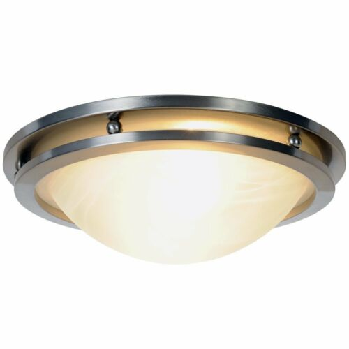 Monument Contemporary Flush Mount Brushed Nickel Ceiling Fixture Light 617602