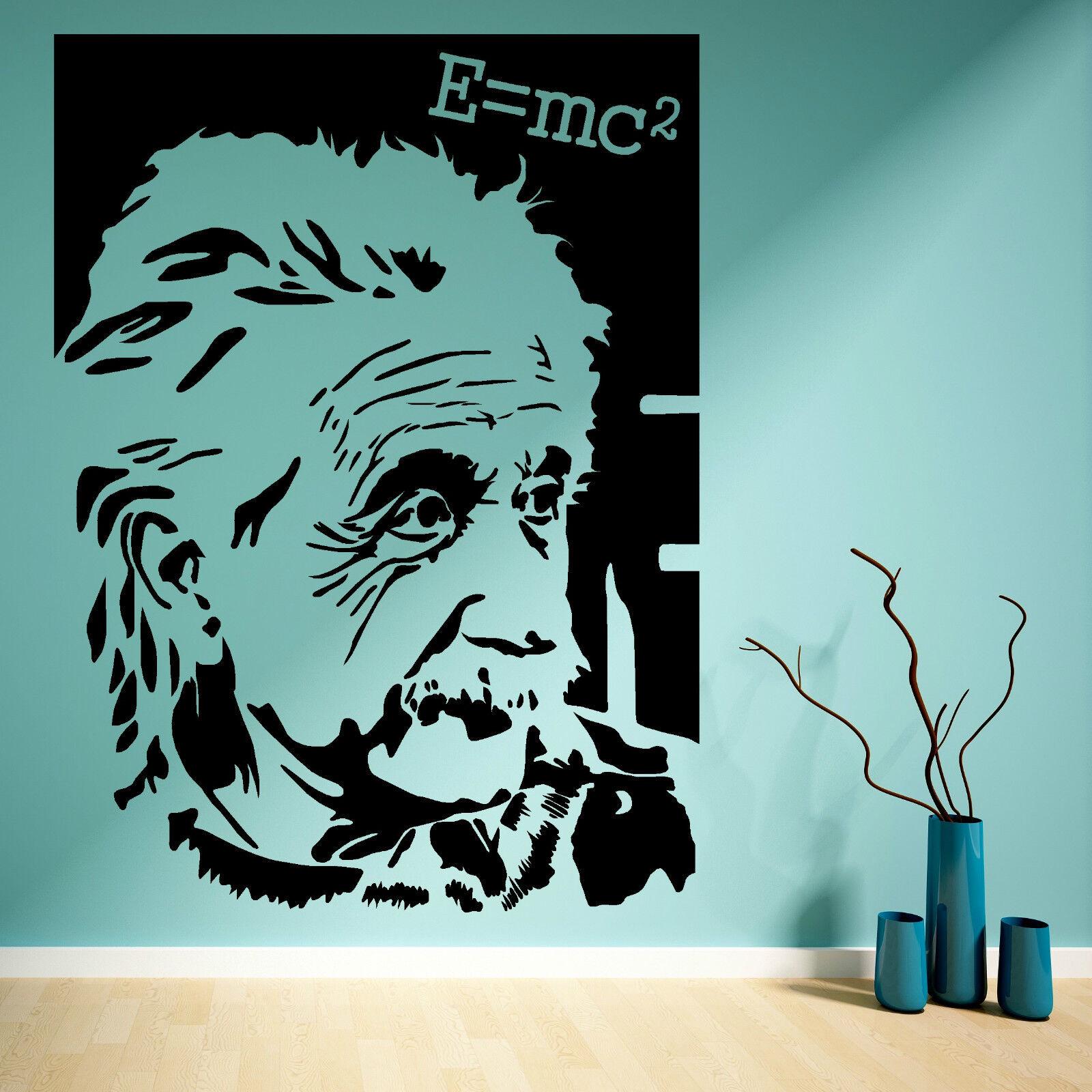 Albert Einstein E Mc2 Vinyl Wall Art Sticker Mural Decal