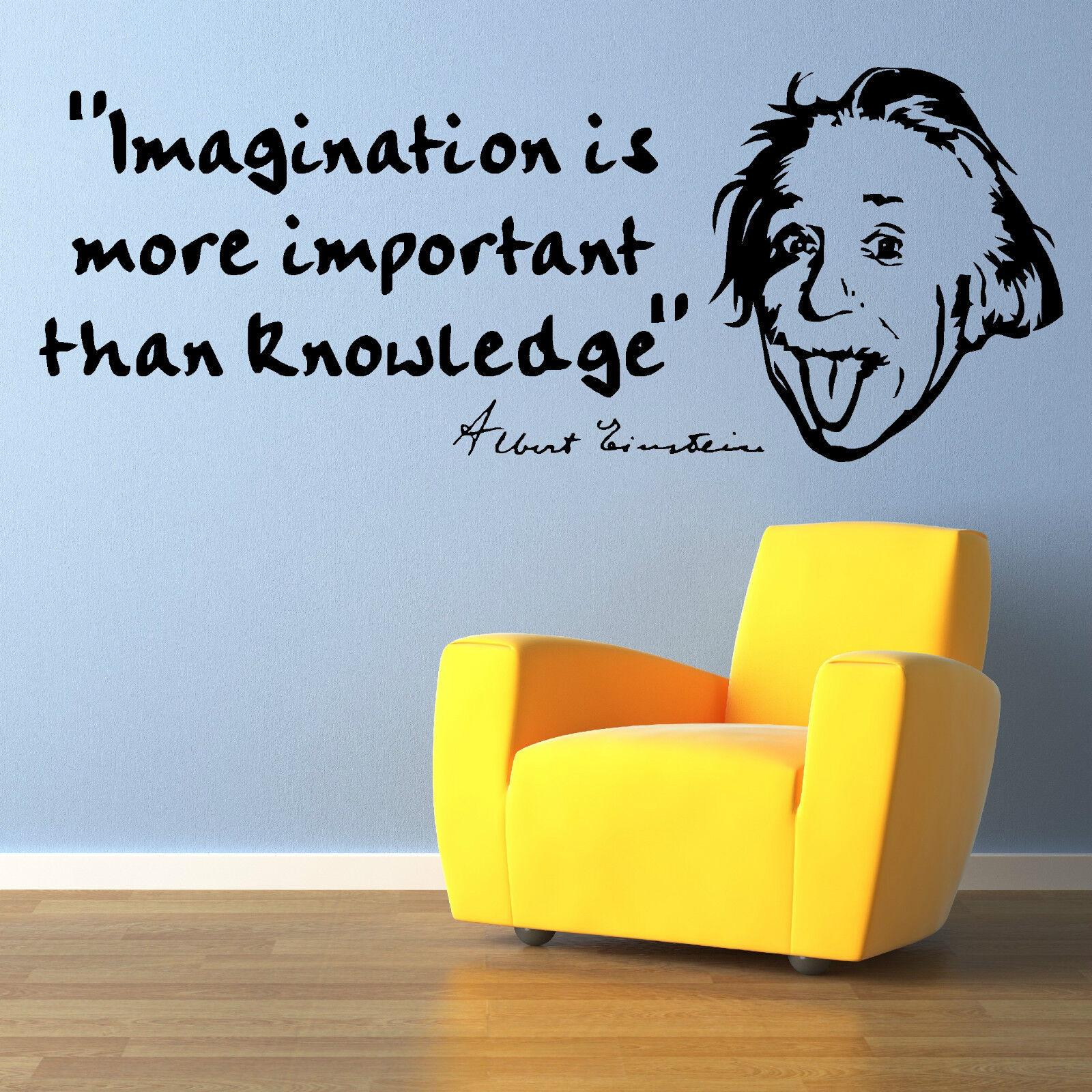 Albert Einstein Imagination Is Vinyl Wall Art Sticker