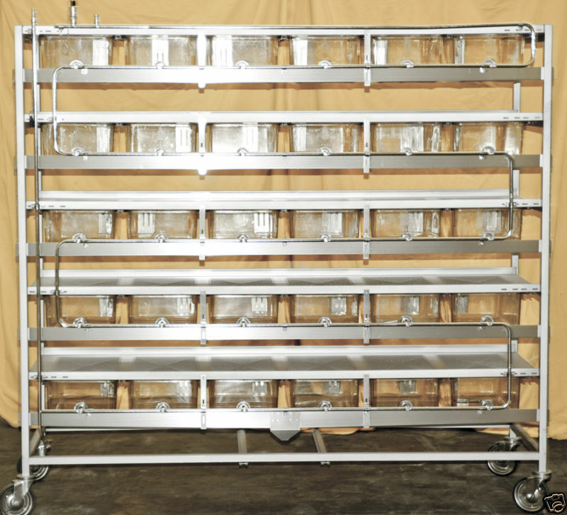 Allentown Rodent Lab Cage Racks with 30 Cages for Mice Rats