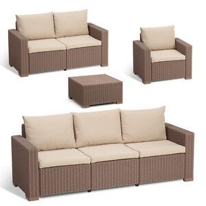 Allibert polyrattan gartenm bel lounge rattanoptik sitzgruppe garnitur ebay - Gartenmobel sitzgruppe rattan lounge ...