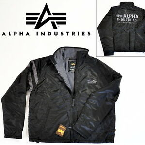 ALPHA-INDUSTRIES-Jacke-Shield-schwarz-div-Groessen-NEU