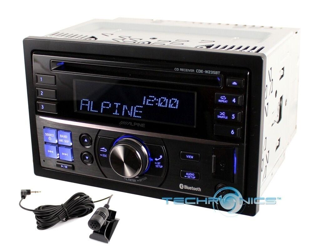 ALPINE CDE W235BT +2YR WARANTY CAR DOUBLE DIN STEREO RADIO  PLAYER