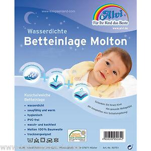 ALVI-wasserdichte-Molton-Betteinlage-Naesseschutz-Matratzenschutz-Bett-Einlage