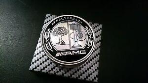 AMG-Schriftzug-Emblem-Motorhaube-Mercedes-Benz-C-CL-CLS-S-SLK-GLK-A-C-Klasse