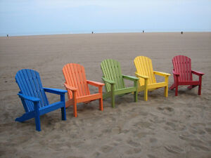 AMISH MADE POLY ADIRONDACK CHAIR CHOOSE YOUR COLOR EBay