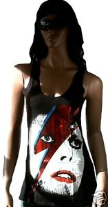 AMPLIFIED-DAVID-BOWIE-Aladdin-Sane-Tank-Top-Shirt-M-L