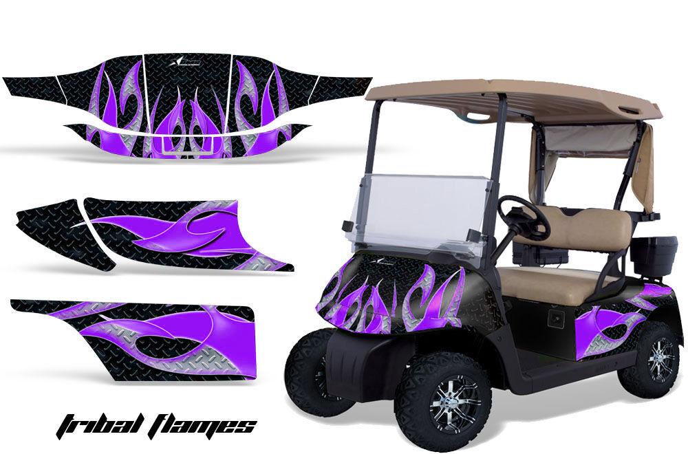 AMR Racing Graphic Kit Sticker Decal EZGO Gas Golf Cart Accessories Part Purple