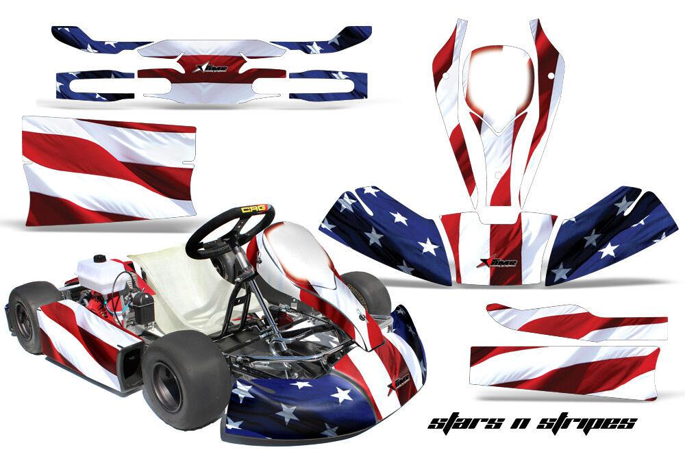 AMR Racing Kart Graphic Sticker Decal Kit Jr CRG Mini Cart Accessories Parts USA