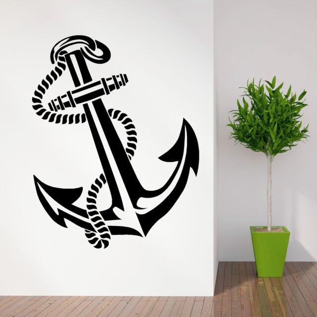 study room ideas in a garage - ANCHOR RETRO VINTAGE TATTOO SHIPS vinyl wall art sticker