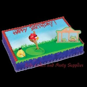 Angry birds cake decorating kit topper decoration party for Angry birds cake decoration kit