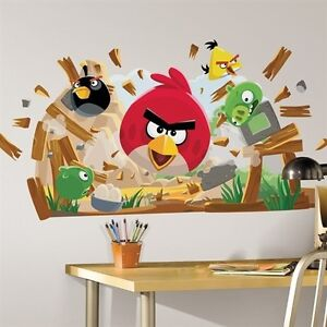 Angry Birds Giant Wall Decals Kids Room Decor Stickers
