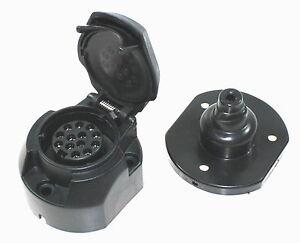 ANHANGER-Steckdose-13-Polig-Kunststoff-Anhaengerstecker-PKW-Kfz-LKW ...