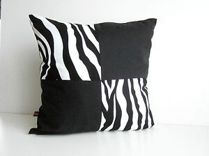 animal print kissenbezug kissenh lle kissen deko zebra schwarz wei ebay. Black Bedroom Furniture Sets. Home Design Ideas