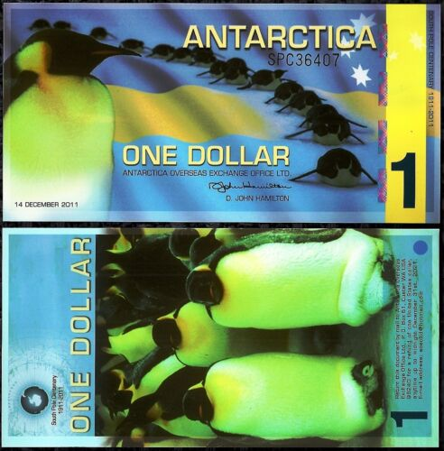 ANTARCTICA $1 DOLLAR FOREIGN POLYMER MONEY NOTE WORLD CURRENCY BANKNOTE in Coins & Paper Money, Paper Money: World, Collections, Lots | eBay