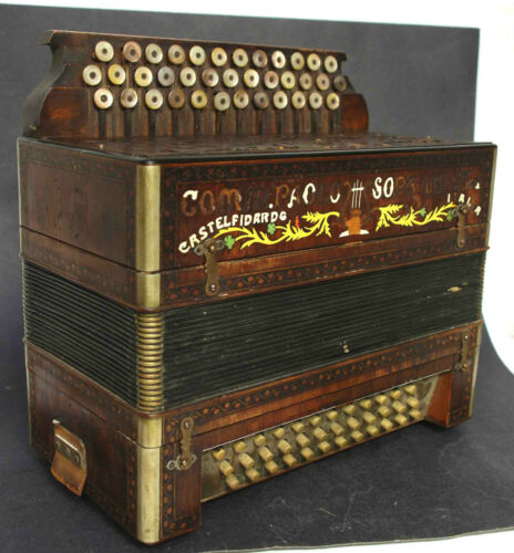 ANTIQUE CASTELFIDARDO PAOLO SOPRANI & FIGLI ACCORDION CONCERTINA INLAID LETTERS in Musical Instruments & Gear, Accordion & Concertina | eBay