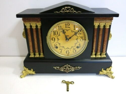 ANTIQUE INGRAHAM FULLY RESTORED CASE MANTLE CLOCK 1890'S ERA in Collectibles, Clocks, Antique (Pre-1930) | eBay