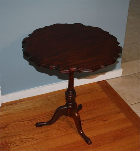 ANTIQUE KITTINGER TILTING PIE CRUST TILT TOP TEA TABLE WALNUT in Antiques, Furniture, Tables | eBay