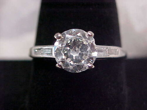 *ANTIQUE*OLD MINE CUT*2.45ctw DIAMOND ENGAGEMENT RING **PLATINUM**NO RESERVE** in Jewelry & Watches, Engagement & Wedding, Engagement Rings | eBay