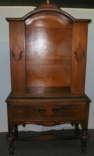 ANTIQUE VICTORIAN WOOD CHINA DISPLAY CABINET HUTCH BOOK CASE SHELF CURIO in Antiques, Furniture, Cabinets & Cupboards | eBay
