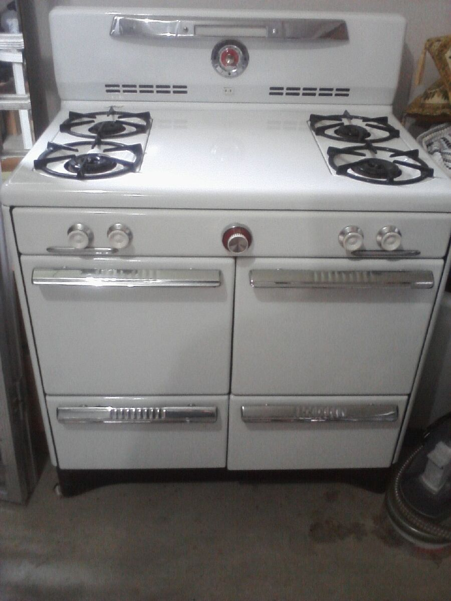 antique vintage magic chef gas range stove oven late 1940s