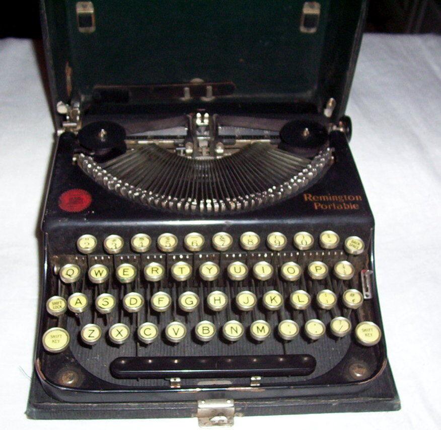 Antique Vintage 1920's Remington Portable Typewriter No 1