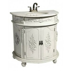 Bathroom Vanity Units on White Shabby Chic French Bathroom Vanity Unit Sink Drawers   Ebay