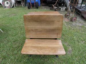 Antique Wood Metal School Desk Quot Silent Giant Quot Ebay