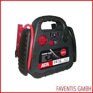 APA-POWER-PACK-12V-Starthilfe-400A-Kompressor-18Bar-Akku-10Ah-12V-Steckdose