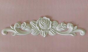 Applikation m bel schr nke truhen regale rosen vintage shabby chic weiss roh ebay - Vintage mobel weiss ...