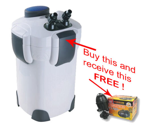 AQUARIUM CANISTER FILTER 9WATT UV STERILIZER! With Free Vibration Pump!! in Pet Supplies, Aquarium & Fish, Filtration & Heating | eBay
