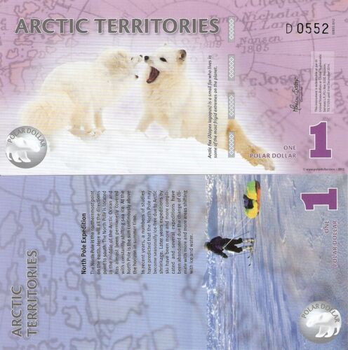ARCTICA Territories 1 Dollar Banknote World Money Currency FUN Note Arctic Fox in Coins & Paper Money, Paper Money: World, Collections, Lots | eBay