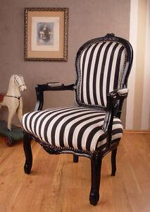 armlehnstuhl vintage sessel rokoko stuhl antik stil ebay. Black Bedroom Furniture Sets. Home Design Ideas