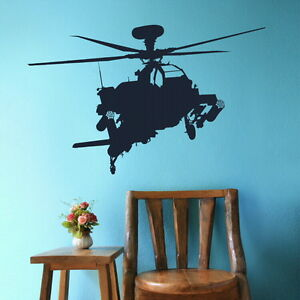 Army helicopter chopper wall art sticker decal graphic for Army wallpaper mural