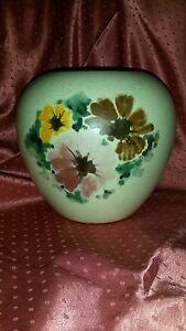 ART DECO Keramik Vase modern florales Spritzdekor - <span itemprop=availableAtOrFrom>Remscheid, Deutschland</span> - ART DECO Keramik Vase modern florales Spritzdekor - Remscheid, Deutschland
