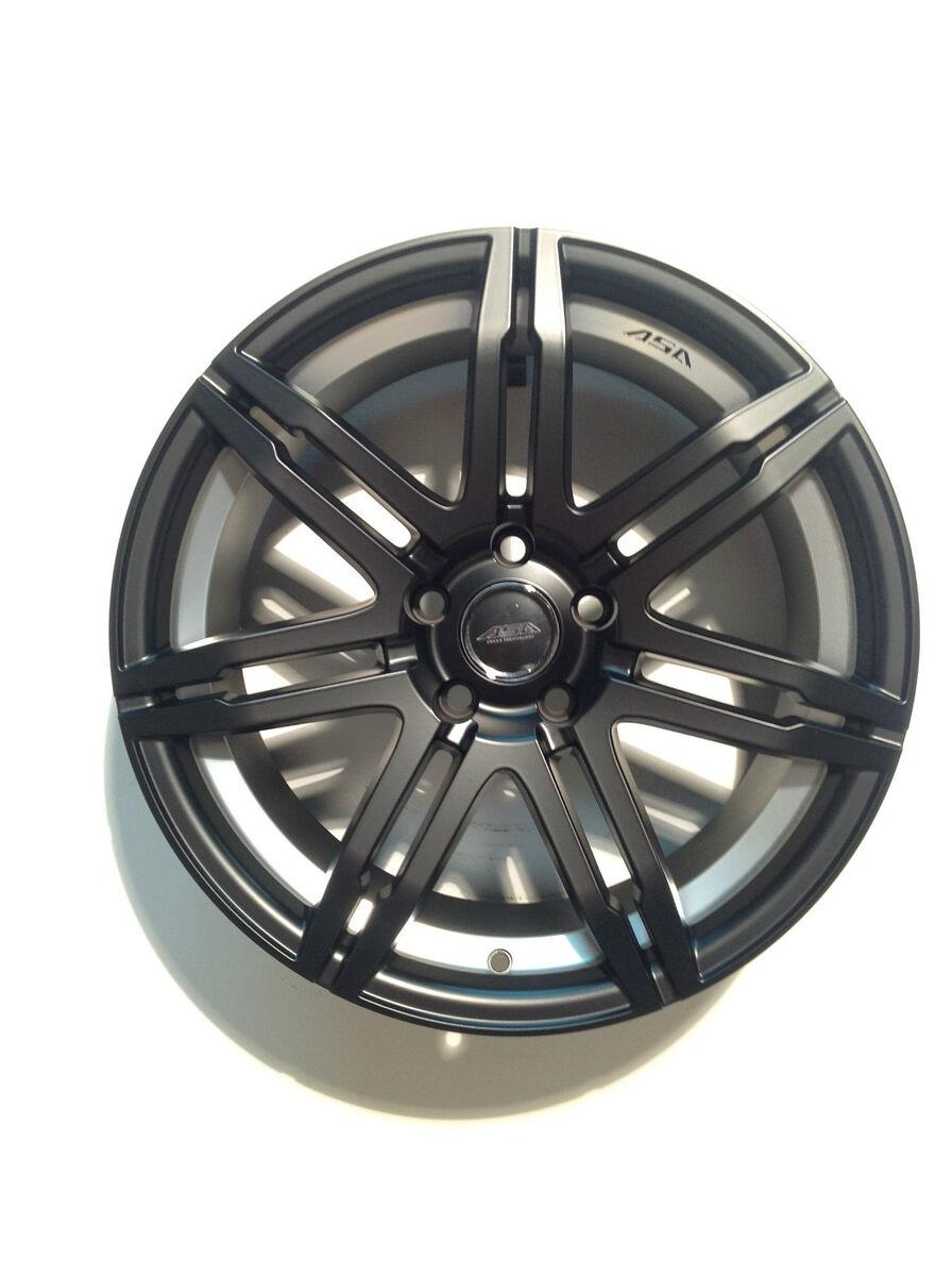 """ASA GT4 18"""" 18x8 5 5x112mm Black Wheel Rim 45mm GT292BB Mercedes"""