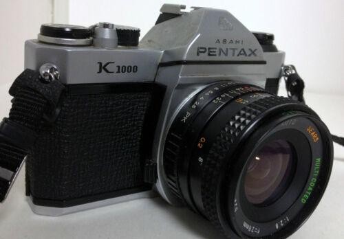 ASAHI PENTAX K1000 35mm FILM SLR CAMERA w/ SEARS MC 1:2.8 28mm Lens & Strap in Cameras & Photo, Film Photography, Film Cameras | eBay