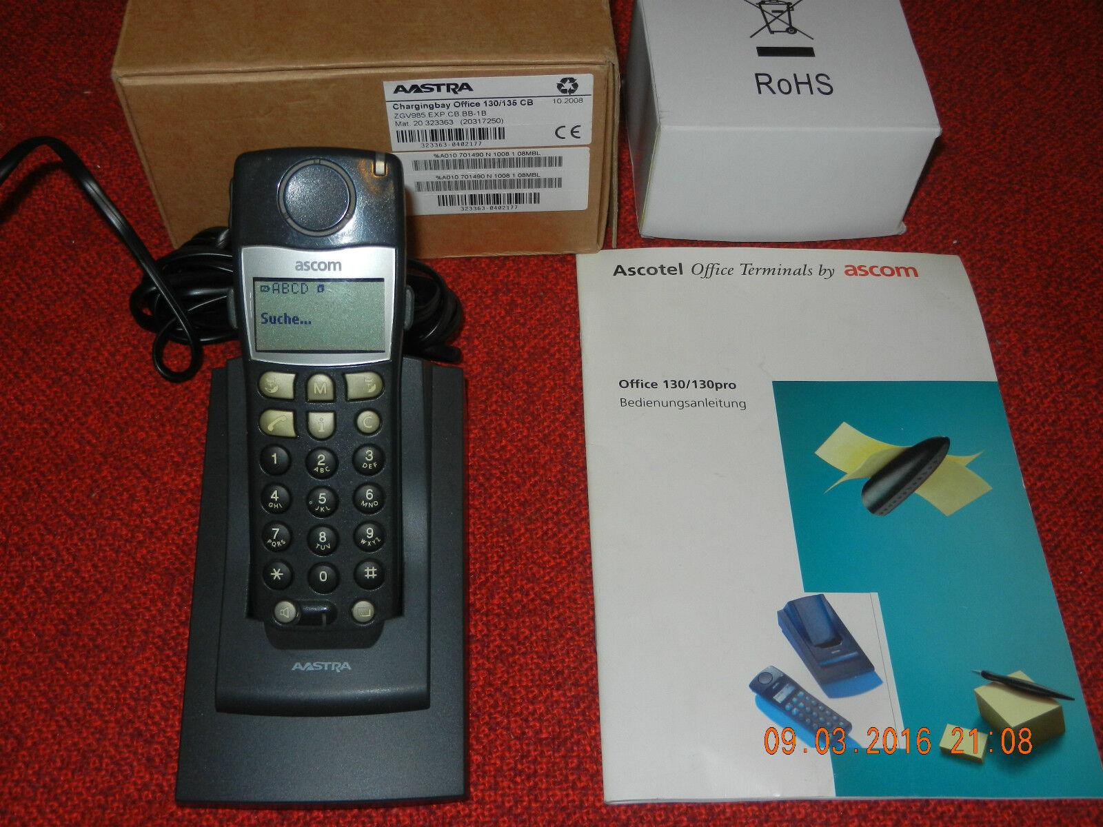 Systemtelefon mit Ladeschale und Netzteil m AAstra Office 135 Mobilteil MwSt.