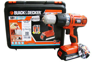 asl188 black decker li ion lithium asl 188 akkuschrauber schrauber 18v asl188k ebay. Black Bedroom Furniture Sets. Home Design Ideas
