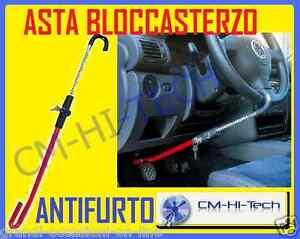 Asta bloccasterzo blocca sterzo antifurto auto per volante pedale freno frizione ebay - Blocca finestra aperta ...