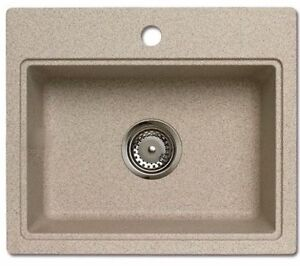 astracast sp lbecken sp le granit rok quadratisch granit beige bermudasand ebay. Black Bedroom Furniture Sets. Home Design Ideas