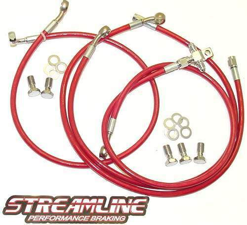 ATV Front & Rear Braided Brake Lines   Yamaha YFZ 450