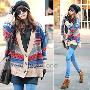 AUS-J41-WOMEN-KOREAN-CHIC-CAPE-SWEATER-CARDIGAN-CAPE-MULTI-COLOR-OUTWEAR-SZ-L-XL