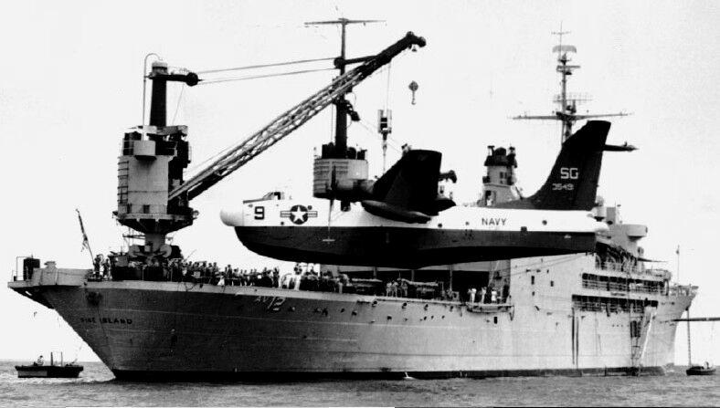 US NAVY SP5 MARTIN PATROL SEAPLANE HAT LAPEL PIN VP-45 WW 2 USS PILOT CREW WOW