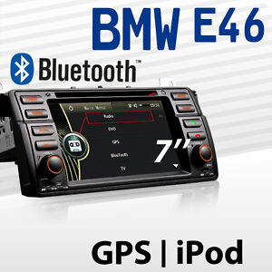 AUTORADIO-GPS-DVD-HD-Navigation-NAVI-Bluetooth-TMC-FUR-BMW-E46-315-320-325-XA12