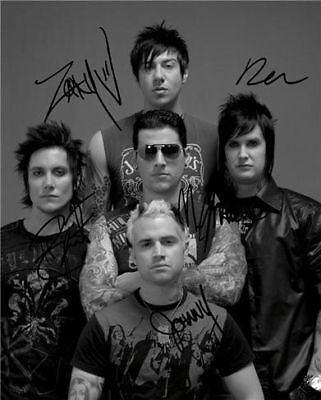 AVENGED SEVENFOLD BAND SIGNED PHOTO 8X10 RP THE REV ! in Sports Mem, Cards & Fan Shop, Autographs-Reprints | eBay