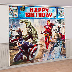AVENGERS GIANT SCENE SETTER Poster DECORATION Super Hero Birthday Party Supplies in Home & Garden, Holidays, Cards & Party Supply, Party Supplies | eBay