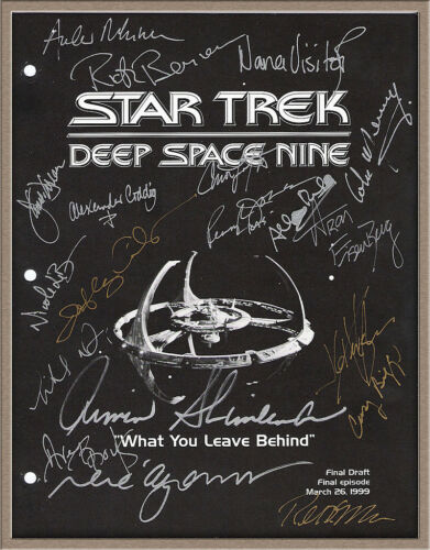 "AVERY BROOKS SIGNED X19 ""STAR TREK DEEP SPACE NINE"" DS9 FINAL EPISODE SCRIPT RPT in Entertainment Memorabilia, Autographs-Reprints, Television 