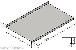 abdeckung edelstahltisch gastro k che imbiss arbeitsplatte 635 mm tief ebay. Black Bedroom Furniture Sets. Home Design Ideas