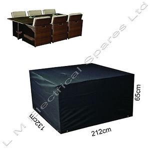 abdeckung rechteckig f r gartenm bel wasserfest st hle tische 6 sitzer ebay. Black Bedroom Furniture Sets. Home Design Ideas